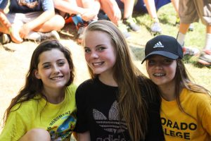 girl campers smiling