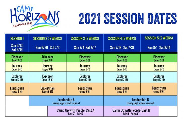 2021 session dates