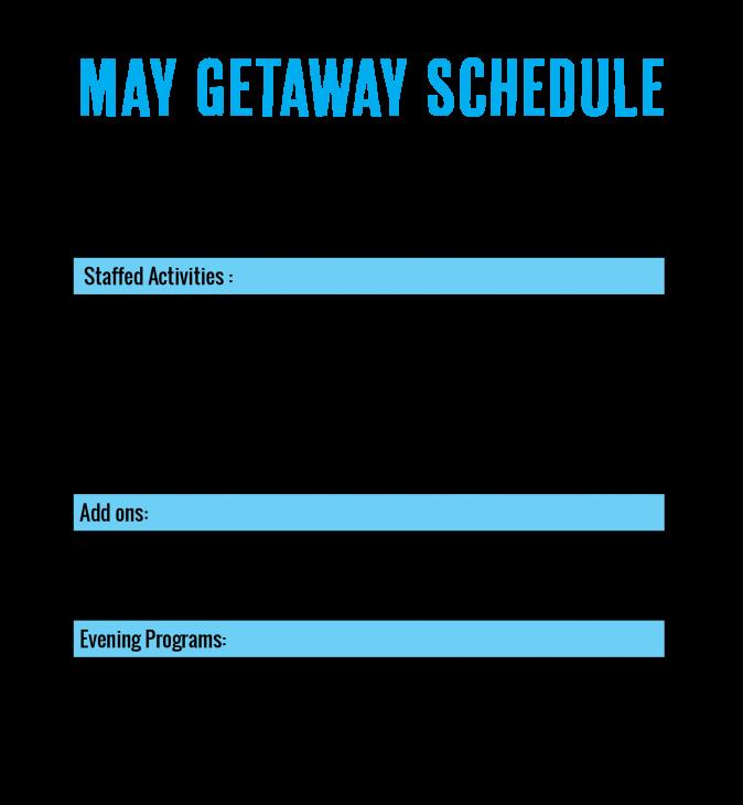 camp horizons may 2021 getaway schedule