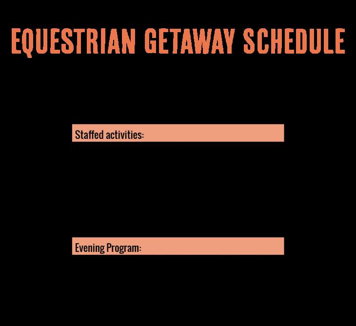 camp horizons equestrian getaway schedule